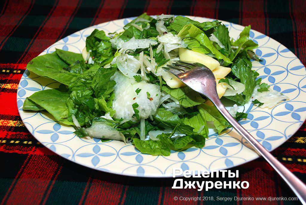 Фото готового рецепту салат з капусти кольрабі в домашніх умовах