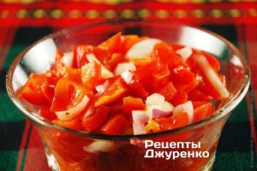 Фото рецепта болгарський салат з перцю