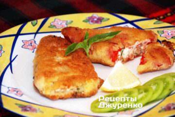 Фото рецепта жареный перец с брынзой