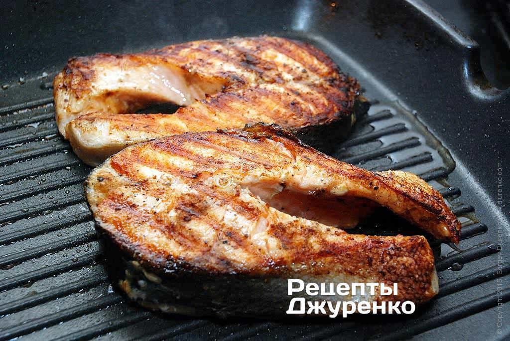 рецепт приготовления стейк форели на шриле