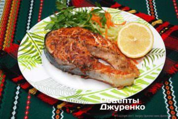 Фото до рецепту: форель на грилі