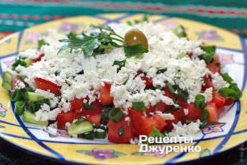 Фото к рецепту: шопский салат