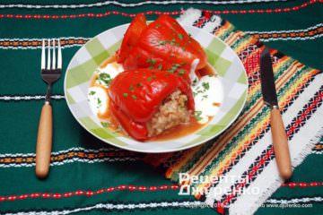 Фото рецепта фаршированный перец