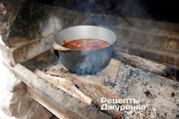 Добавить нарезанное мясо и воду