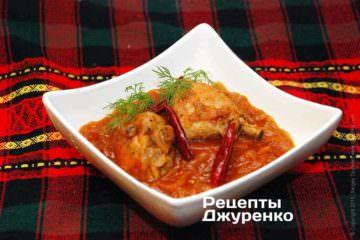 курица в томатном соусе