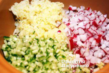 накрошить овощи