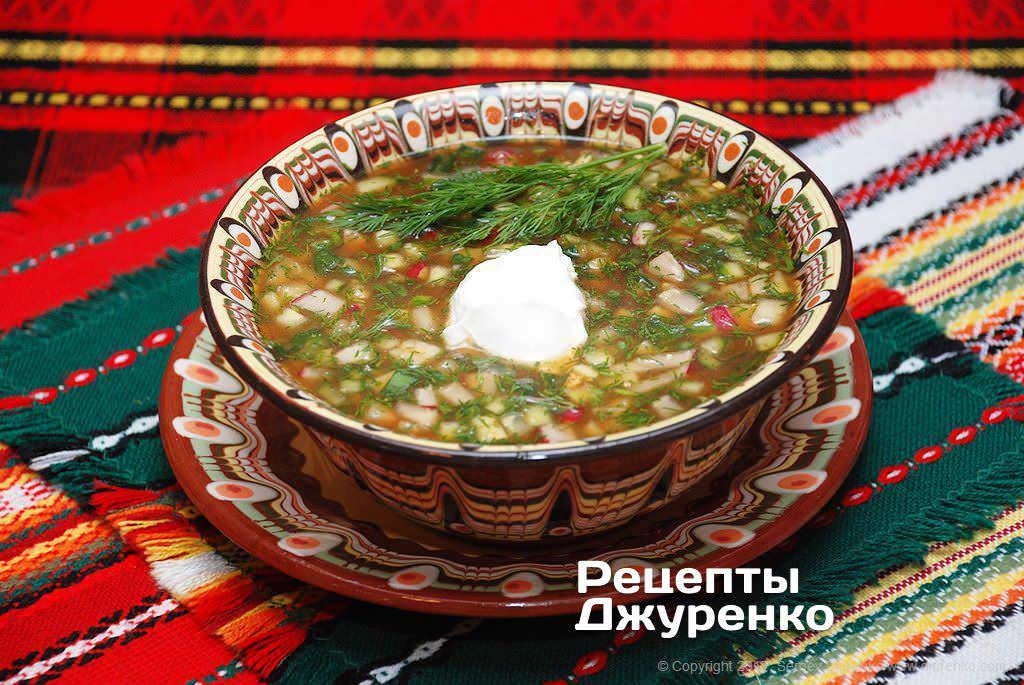 Холодные супы: окрошка