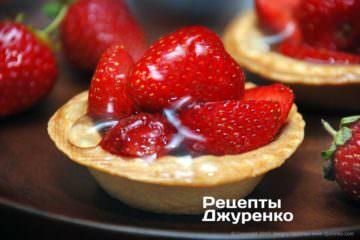 Десерт з полуницею