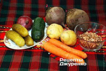 Овочі для салата