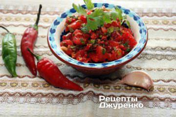 Фото рецепта гострий салат — піко де гальо