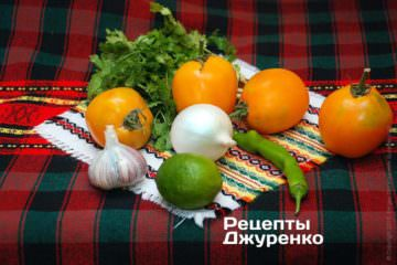 овочі для сальси