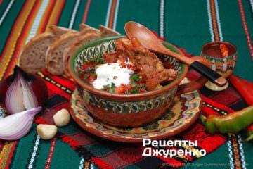 Вкусный украинский борщ