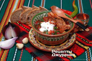 Фото к рецепту: украинский борщ