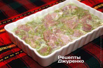 Замаринувати підготовлене м'ясо