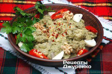 Фото до рецепту: риба в соусі — сациві