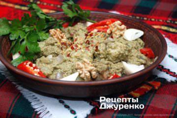 Фото рецепта рыба в соусе — сациви