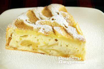 Фото до рецепту: шарлотка з яблуками