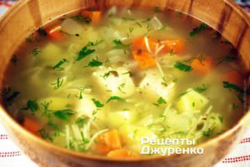 Выключить огонь, надо чтобы суп с вермишелью постоял 1-2 мин