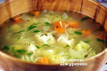 Суп с вермишелью на курином бульоне