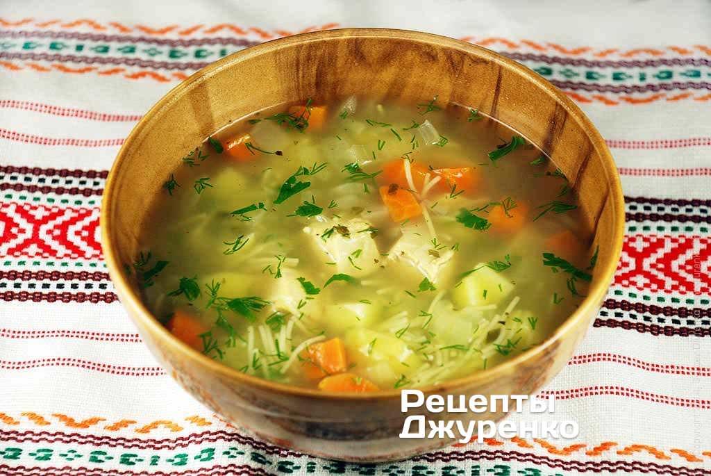 Суп из куриного филе с вермишелью
