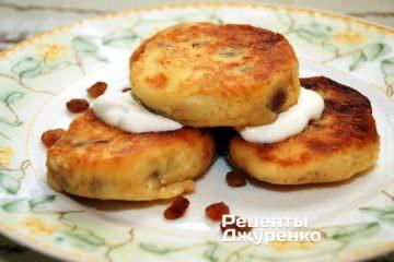 Фото рецепта сирники рецепт зі сметаною