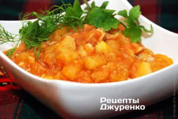Фото рецепта курица с картошкой
