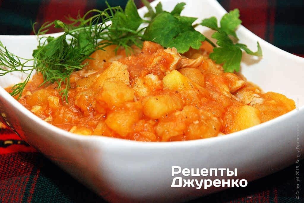 Фото готового рецепта курица с картошкой в домашних условиях