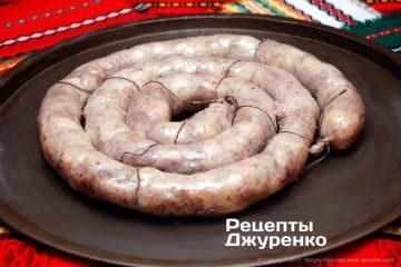 смазать колбасу жиром