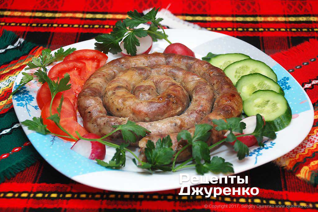 Фото готового рецепту домашня ковбаса в домашніх умовах