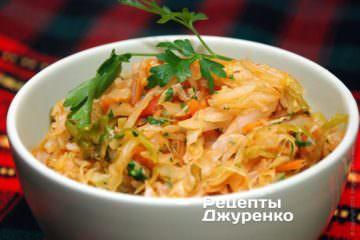 Фото рецепта тушеная капуста без мяса