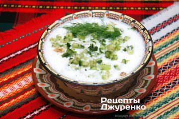 Фото рецепта болгарський таратор — окрошка на кислому молоці