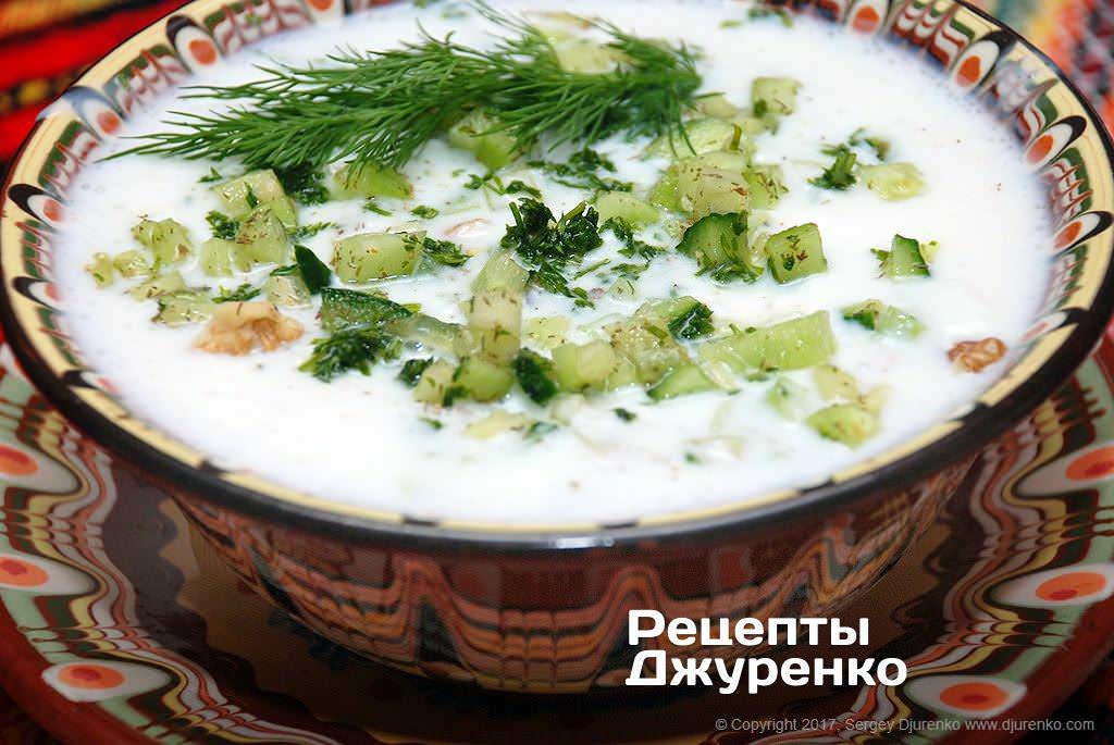 болгарський таратор фото рецепту