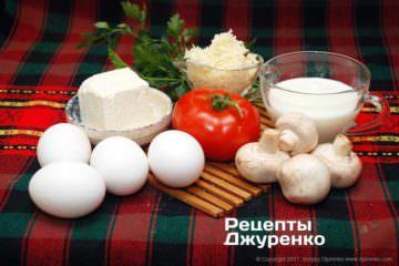 Яйця і начинка для омлету