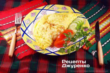Фото рецепта омлет з начинкою