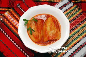 Фото к рецепту: перец фаршированный курицей