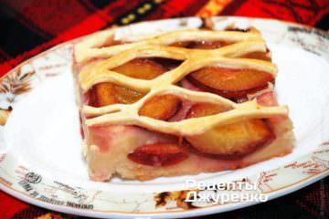 Фото рецепта пирог со сливами