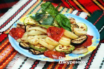 Фото до рецепту: овочі на грилі