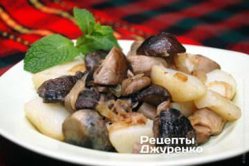 Картошка с жареными грибами