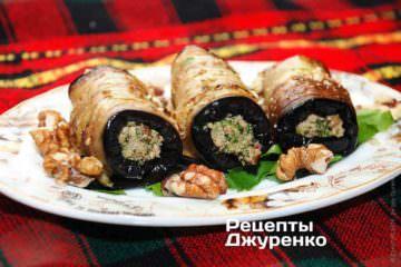 Жареные баклажаны с орехами и кинзой - превосходная закуска!!!
