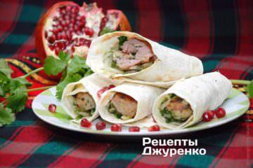 Фото рецепта домашний кебаб в лаваше