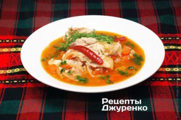 Острый суп из курицы