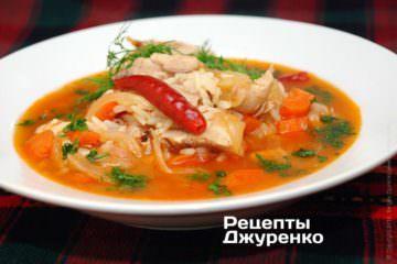 куриный суп огненный