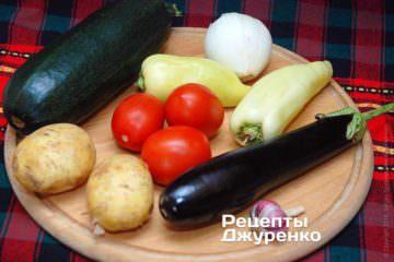 Овочі для салату