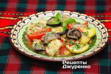 Запеченный салат из овощей
