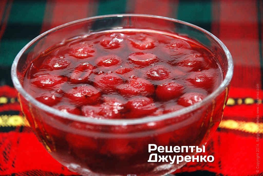 Десерт: Желе из вишен