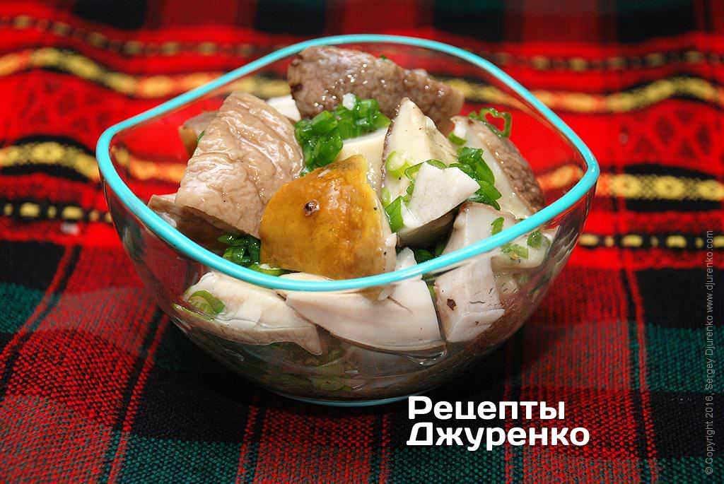 Закуска – маринованные белые грибы