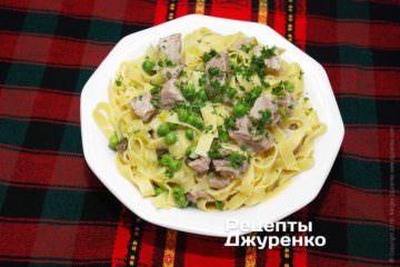 Фото рецепта лапша с мясом