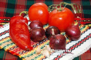 Овочі для смаження і соусу