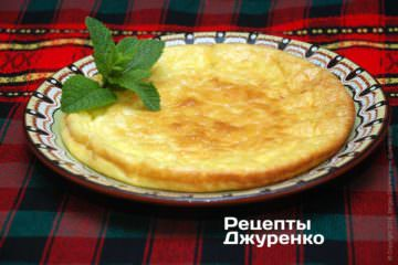 Фото рецепта омлет с сыром