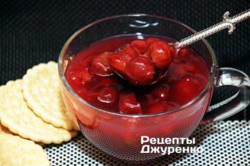 Фото рецепта вишневый кисель